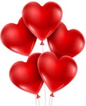 (005) 5 pcs heart shaped Balloon Bouquet