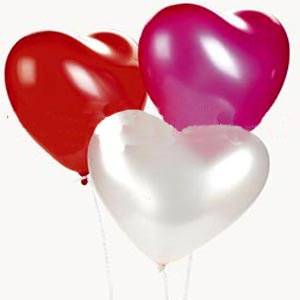 (003) 3 pcs heart shaped Balloon Bouquet