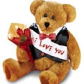 Customizable message bear w/ roses