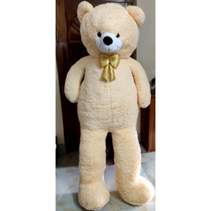 (0010) Large off white Teddy Bear 8 feet