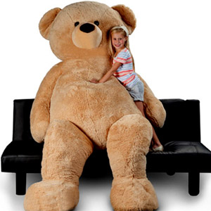 (0011) Large brown Teddy Bear 8 feet