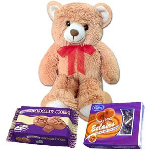 Bear w/ cookies+chocolate box