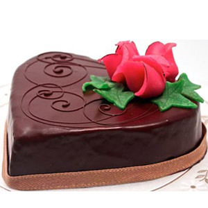 (001) Swiss - 2.2 Pounds Special Chocolate Heart Cake