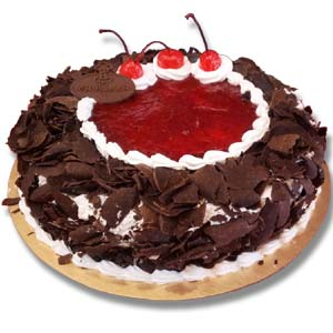(02) Mr. Baker - Half kg Black Forest Round Cake