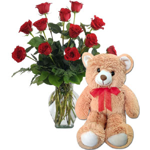 (79)Roses with bear