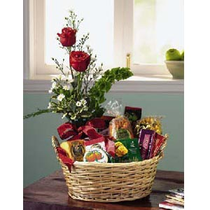 Rose touch gift basket