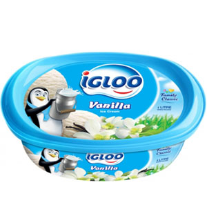 (18) IGLOO Vanilla Ice cream 1 Liter
