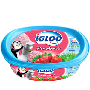 (25) IGLOO Strawberry Ice cream 1/2 Liter