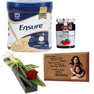 (004) Ensure vanilla powder W/ photo frame, jam & red rose