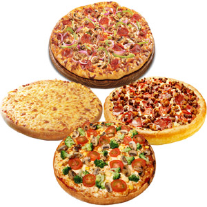 4 Personal Pan Pizzas in one box