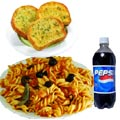 (01) Penne Pasta W/Garlic Bread & Pepsi For One Person