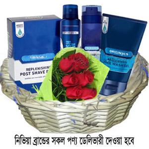 (36) Exclusive Men's skin care product basket.
