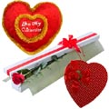 (59) 1 Pcs Red Roses W/ Chocolate & Pillow with message
